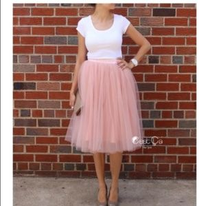 Plus Size Handmade Tulle Skirt